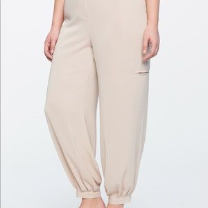 Eloquii pleated gathered ankle pant
